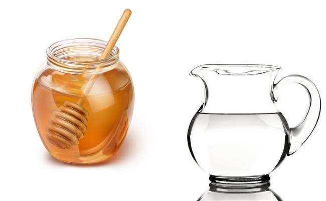 Honey with lukewarm water
