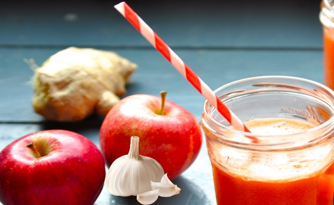 Ginger, Garlic and Apple Juice