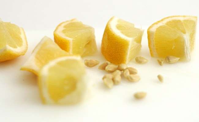 Lemon Juice And Lemon Seeds