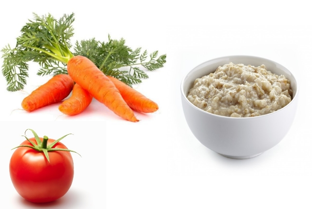 Carrot, Tomato And Oatmeal