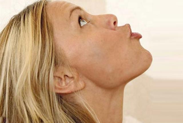 Sagging Chin Exercise