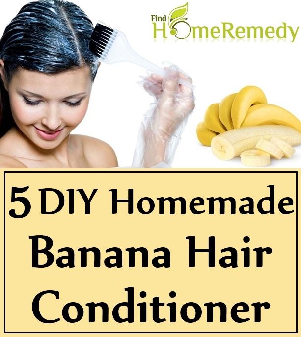 DIY Homemade Banana Hair Conditioner