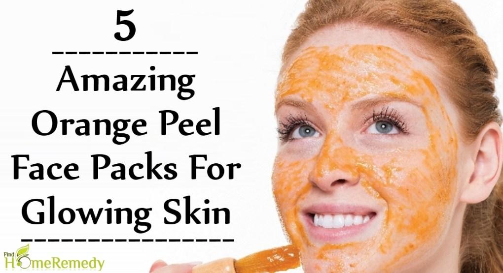 Orange Peel Face Packs For Glowing Skin