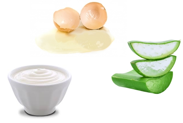 Egg, Aloe Vera Gel, And Yogurt