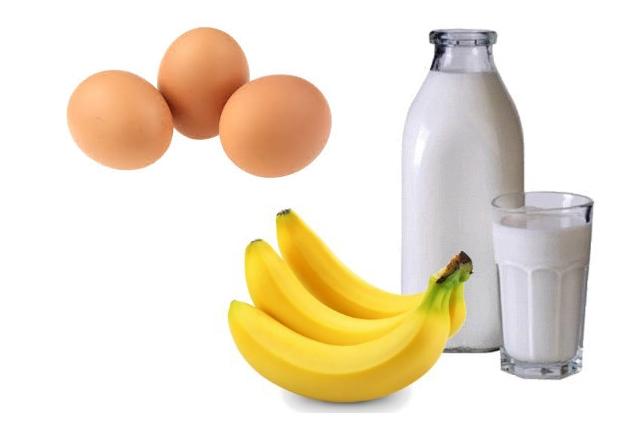 Egg, Milk, And Banana
