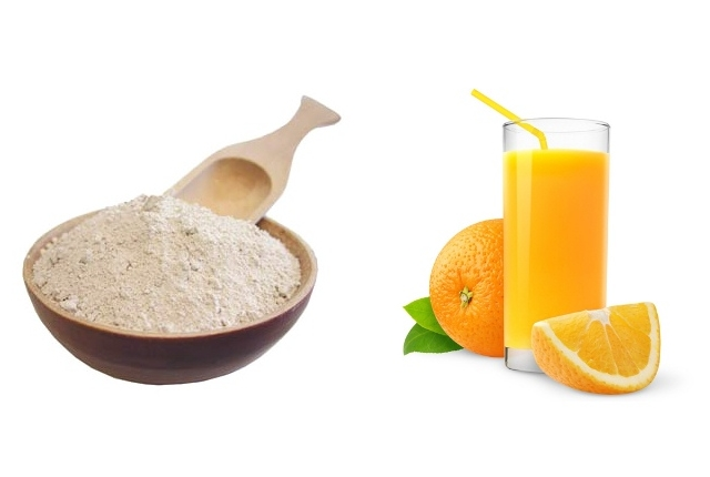 Tangerine And Egg Yolk Mask For Dry And Flaky Skin