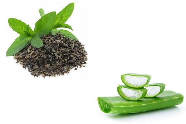 Aloe Vera Gel And Green Tea