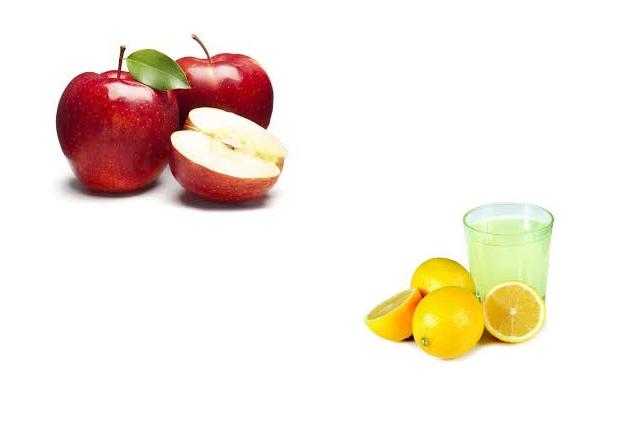 Apple And Lemon Juice Face Bleach