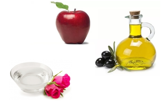Apple With Olive Oil And Rosewater