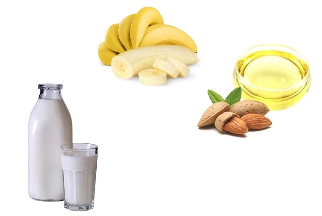 Banana, Milk And Almond Oil Mask