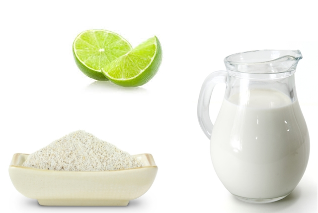 Barley Powder, Milk, And Lime Juice