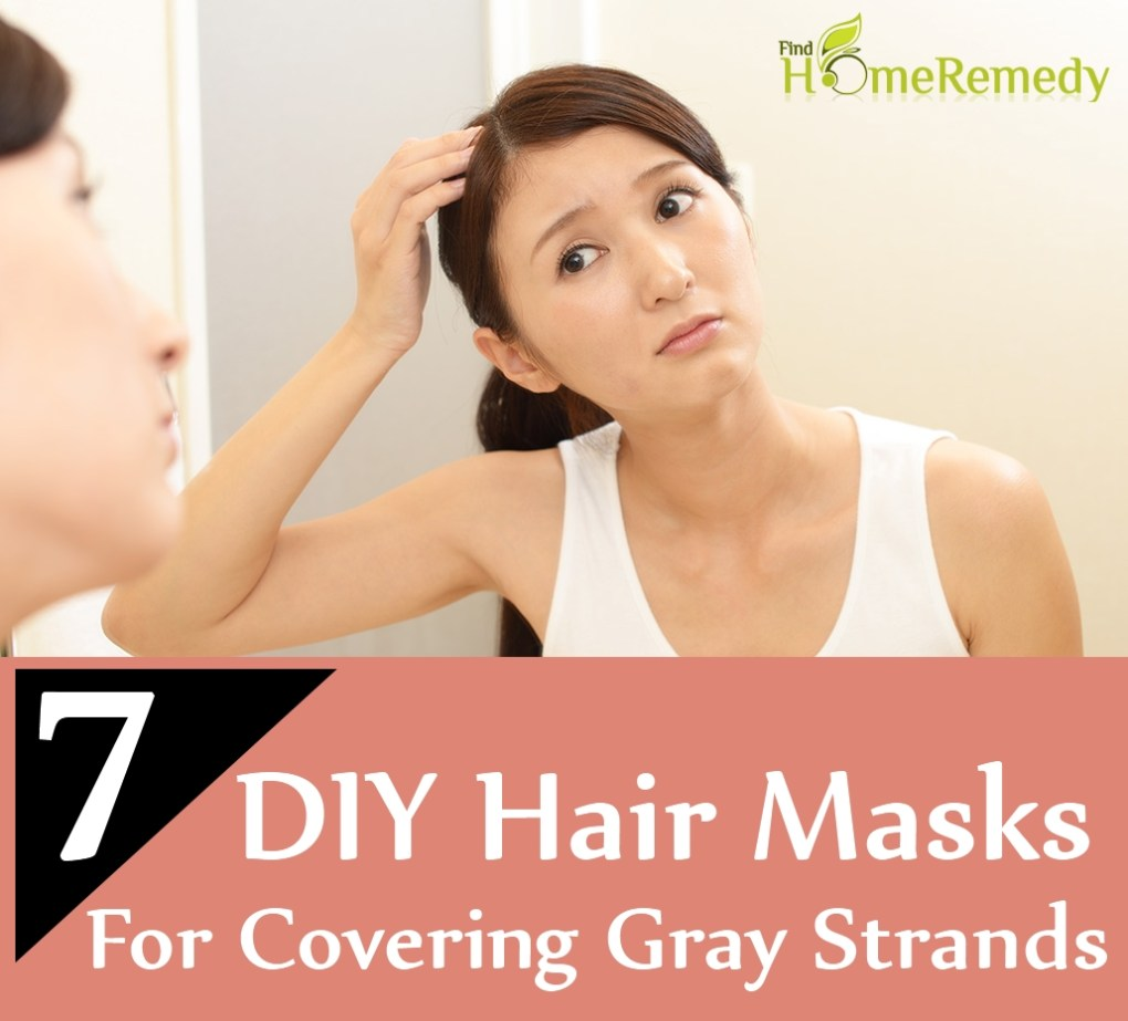DIY Hair Masks For Covering Gray Strands