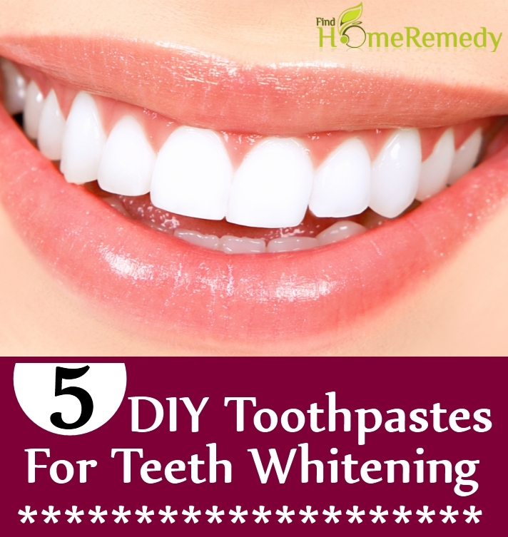DIY Toothpastes For Teeth Whitening