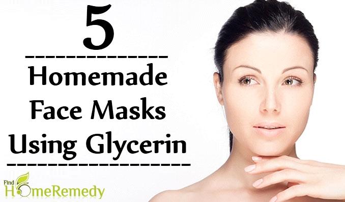 Homemade Face Masks Using Glycerin