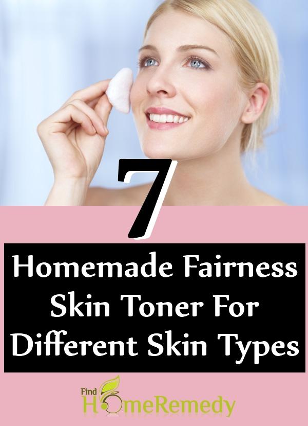 Homemade Fairness Skin Toner For Different Skin Types