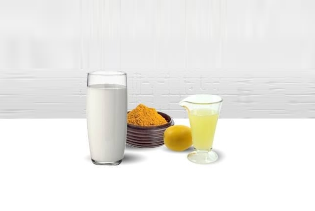 Lemon Juice, Turmeric, And Milk