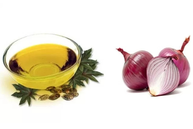 Onion Juice And Castor Oil Mask