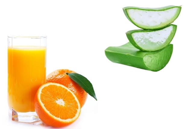 Orange Juice And Aloe Vera Gel