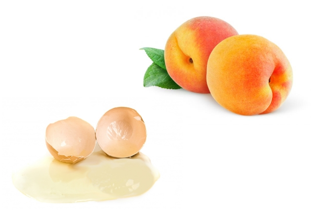 Peach And Egg White Face Pack