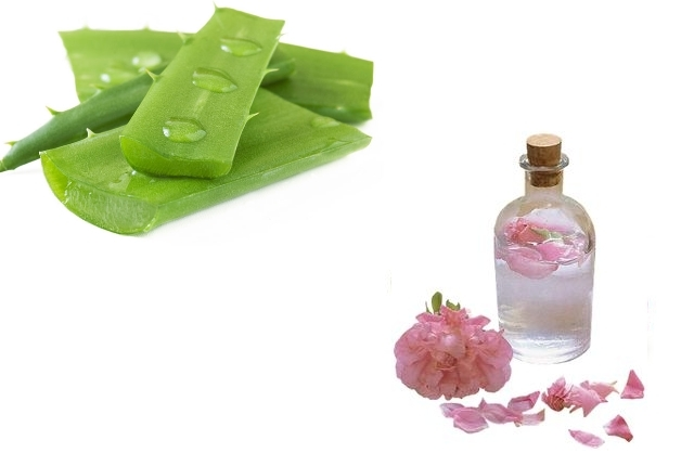 Rosewater And Aloe Vera Gel