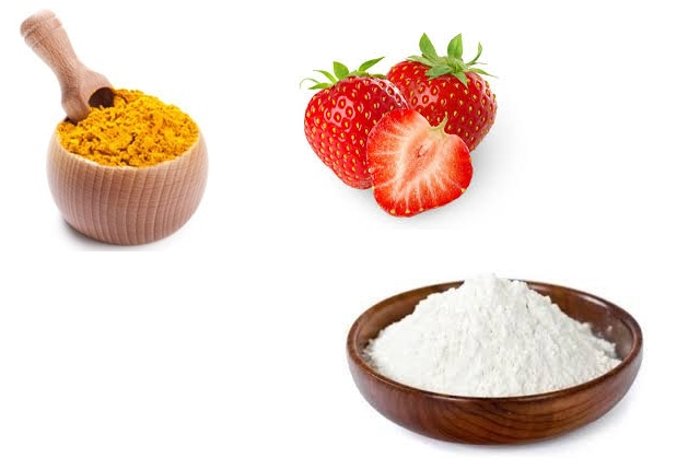 Turmeric, Corn Starch And Strawberries