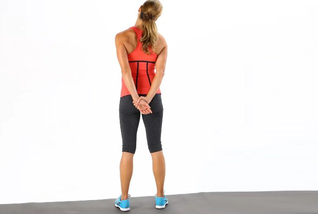 Behind The Back Neck Stretch