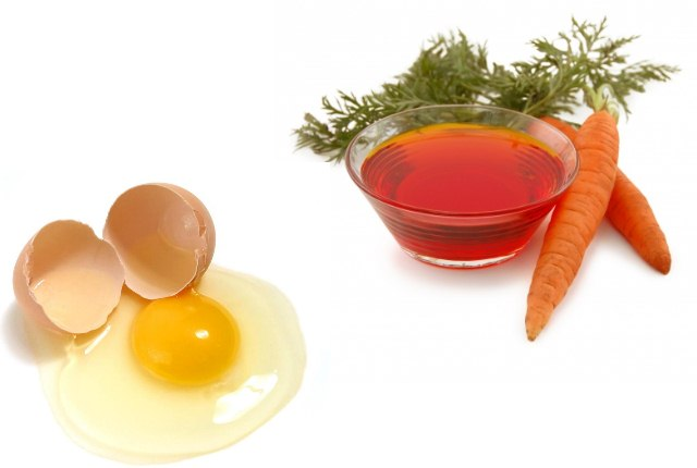 Carrot Oil And Egg Hair Mask