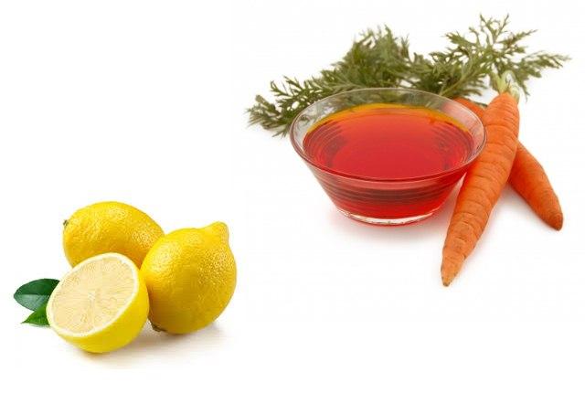 Carrot Oil And Lemon Hair Mask