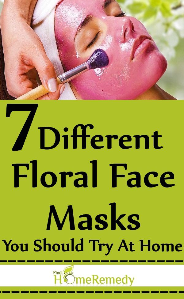 7 Different Floral Face Masks You Should Try At Home