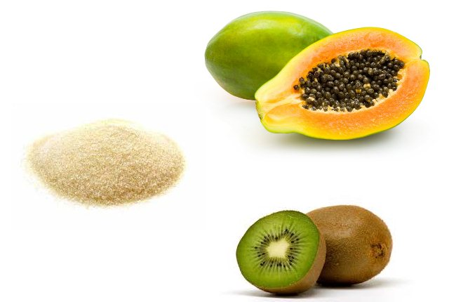 Gelatin Peel Off Mask With Papaya And Kiwi Fruit For Instant Fairness