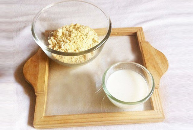 Gram Flour And Milk