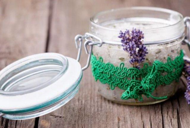 Lavender Oil Shea Butter Scrub