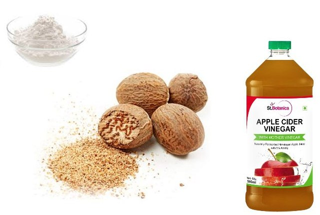 Nutmeg With Apple Cider Vinegar and Baking Soda