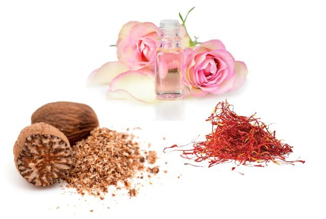 Nutmeg With Rosewater And Saffron