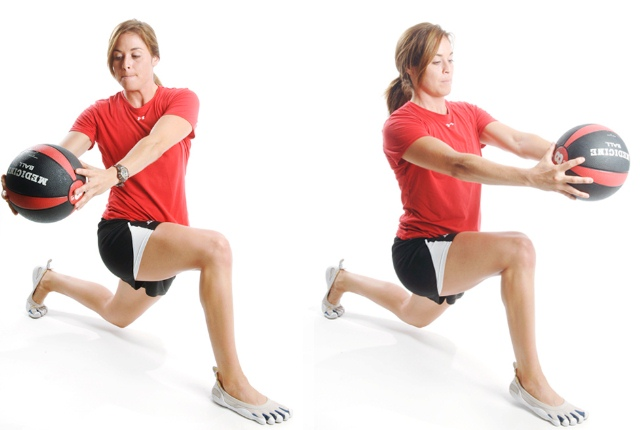 Lunges With Twist