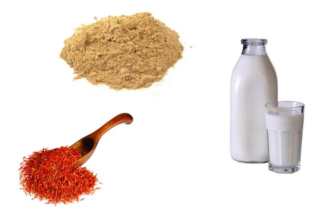 Saffron, Sandalwood Powder And Milk Pack