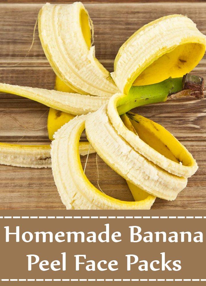 Homemade Banana Peel Face Packs