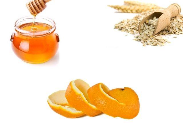 Homemade Face Mask Using Honey, Oats And Orange Peel