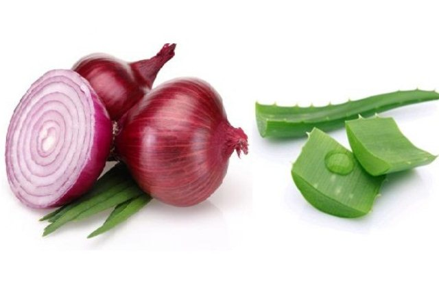 Onion Juice and Aloe Vera Hair Mask
