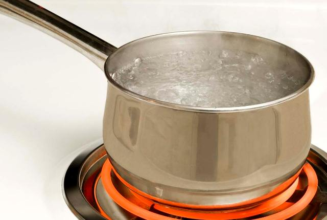 Boil Water In A Pan