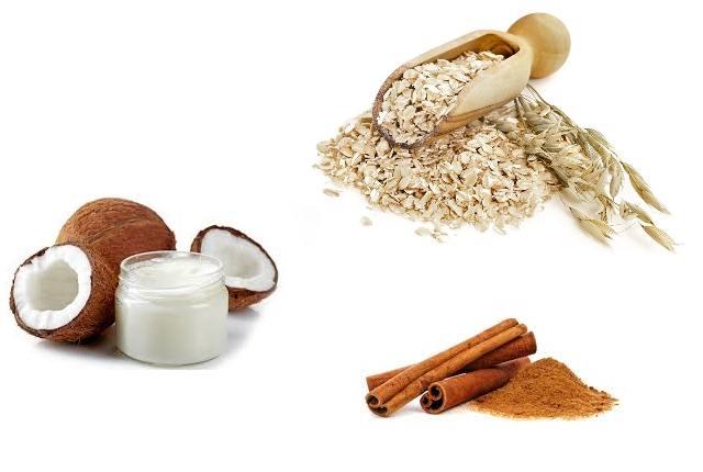 Oatmeal Bath With Cinnamon And Coconut Oil
