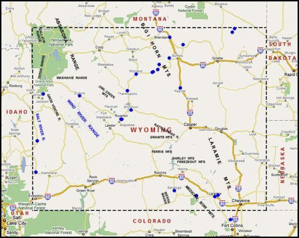 Wyoming Usa Map