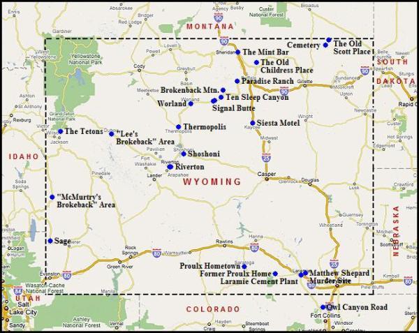 Map of Wyoming USA