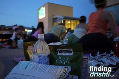 All the yummy goods + yoga'ing at sunset. Pretty sweet combination.