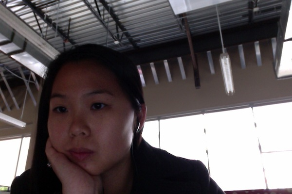 Pensive hard-at-work selfie