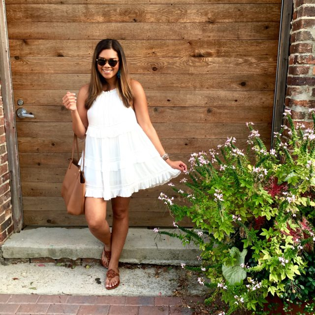 White Ruffled Chicwish Dress