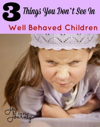 There are a few things you don't see in well behaved children, so getting compliments about how well behaved my kids are tends to make me uncomfortable.