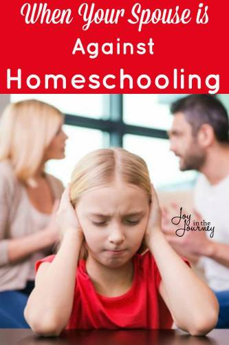 Dear mom whose spouse is against homeschooling. I see you. Wanting to homeschool, but not being able to. I've been where you are, and can help.