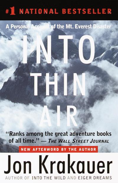 Read something new with 25 books in 8 different genres - Into Thin Air