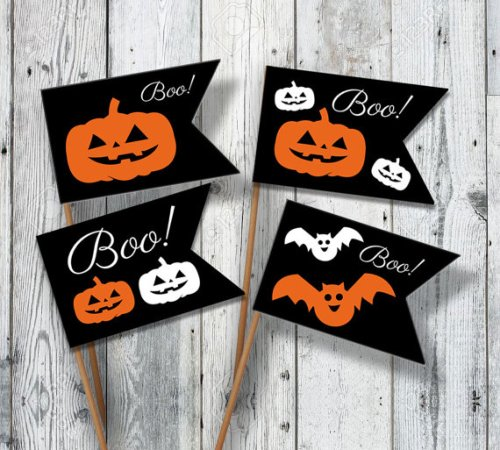 Halloween flags by oopsyideas